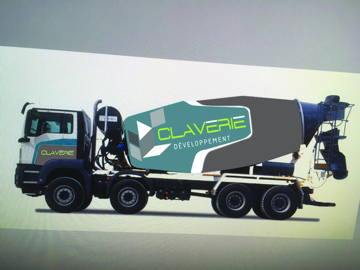 Réalisation Comevents - Claverie Développement - Marquage véhicule Toupie