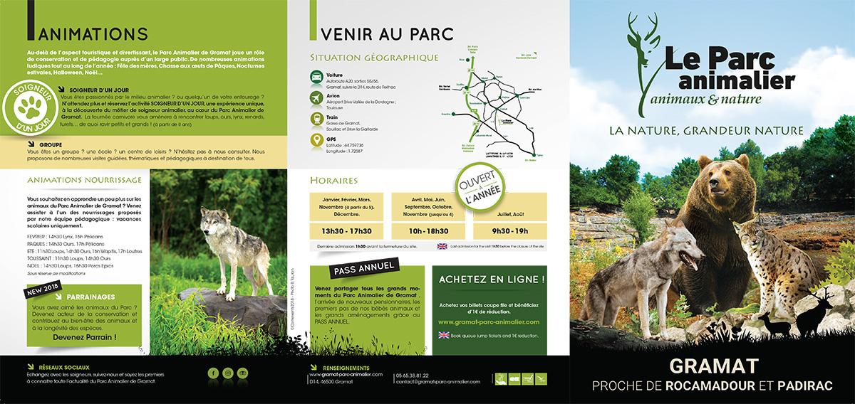 Dépliant recto - Parc animalier de Gramat
