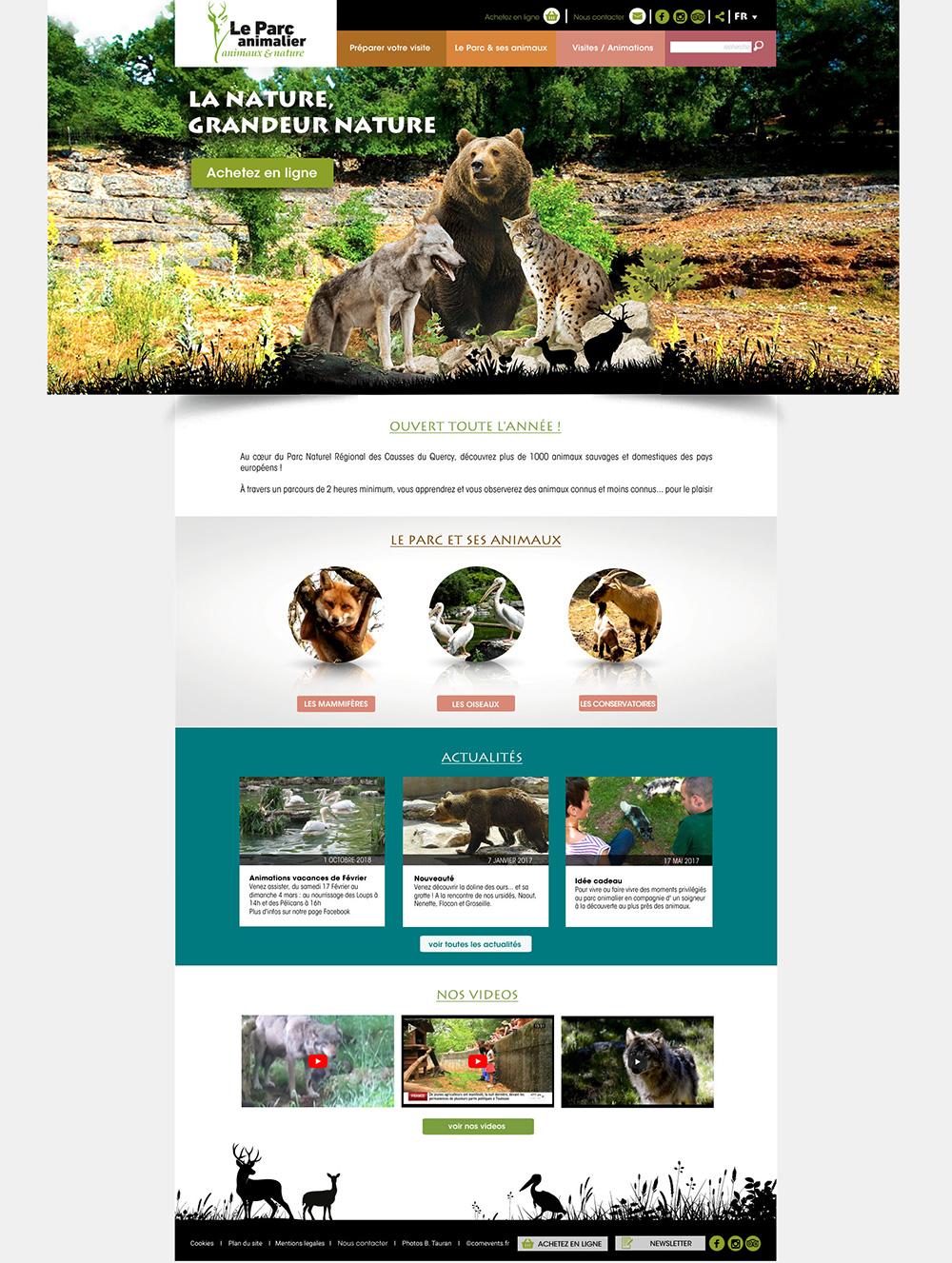 Refonte site web- Parc animalier de Gramat