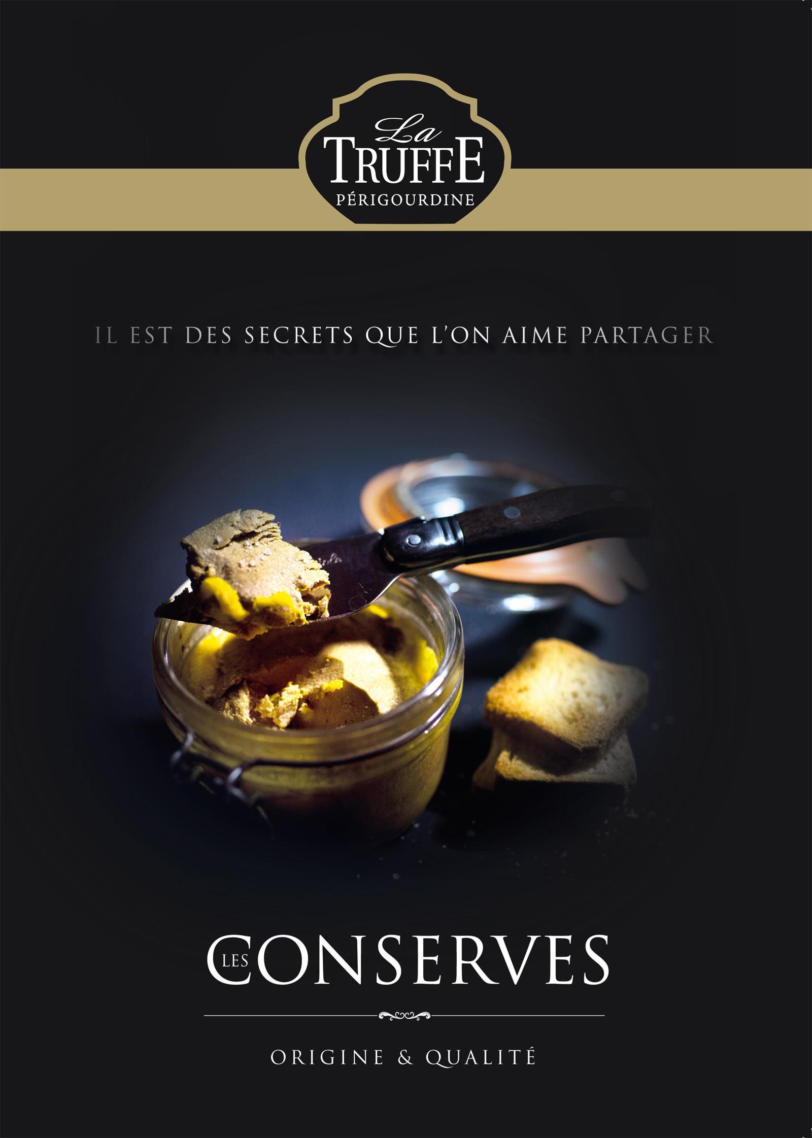 Réalisation Comevents - La Truffe Périgourdine - Plaquette Conserves - Une de couverture