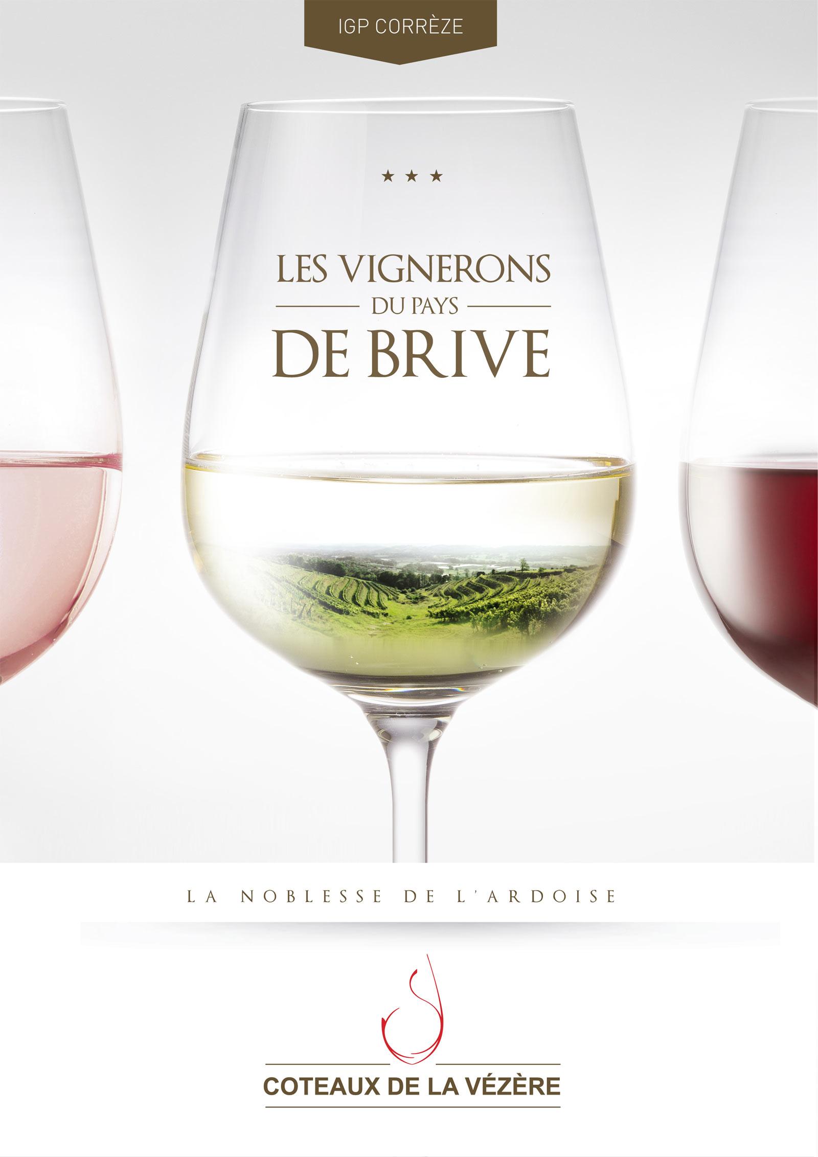 Réalisation Comevents - Coteaux de la Vézère - Plaquette - Une de couverture
