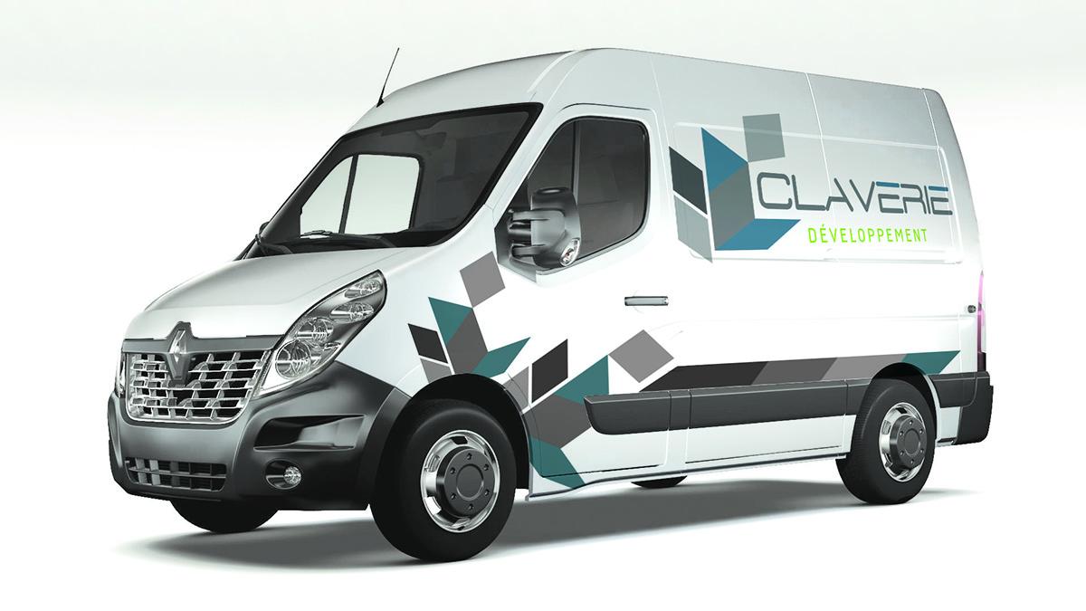 Réalisation Comevents - Claverie Développement - Marquage véhicule Master