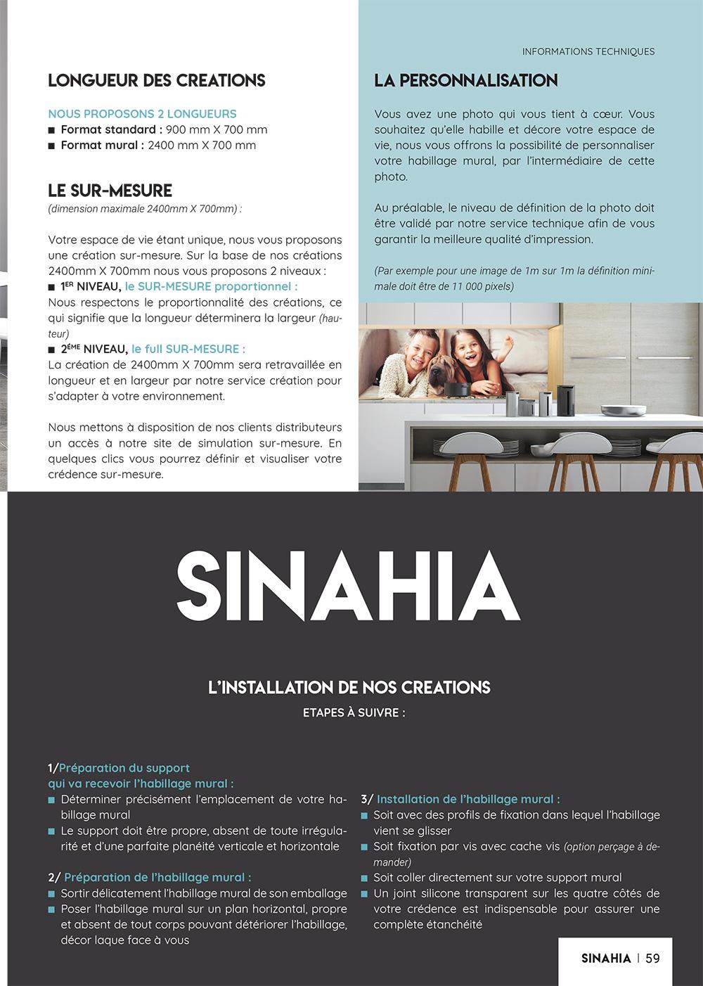 Catalogue Crédences SINAHIA